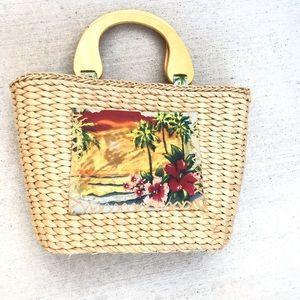 Handbags - Vintage Straw Wood Summer Mini Bag